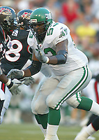 Charles Thomas Saskatchewan Roughriders 2003. Photo Scott Grant
