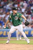 June 29, 2008:  Jamie Richmond (23) of the Kane County Cougars playing in the first ever MiLB game at Wrigley Field in Chicago, IL.  Photo by:  Chris Proctor/Four Seam Images
