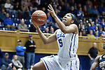 06 December 2012: Duke's Sierra Moore. The Duke University Blue Devils played the Georgia Tech University Yellow Jackets at Cameron Indoor Stadium in Durham, North Carolina in an NCAA Division I Women's Basketball game. Duke won the game 85-52.