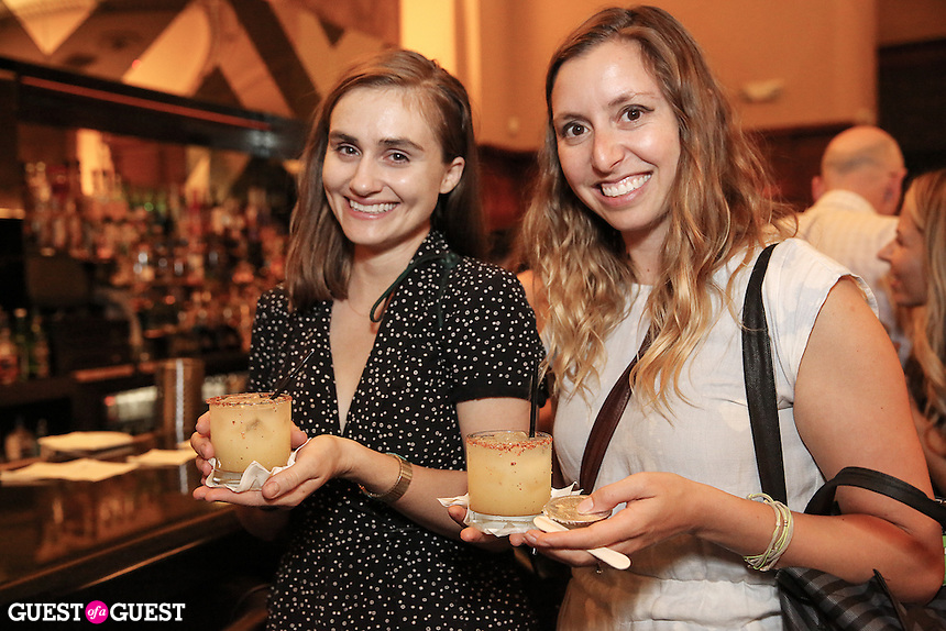 Justine Jones and Natasha Case attend the Ludlows Jelly Shots Cocktail Crawl on August 27, 2014.