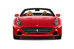 Car photography straight front view of a 2017 Ferrari California-T 2 Door Convertible Front View