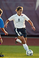 Shannon MacMillan of the USWNT. The USWNT defeated Russia on  September 29, at Mitchel Athletic Complex, Uniondale, NY.