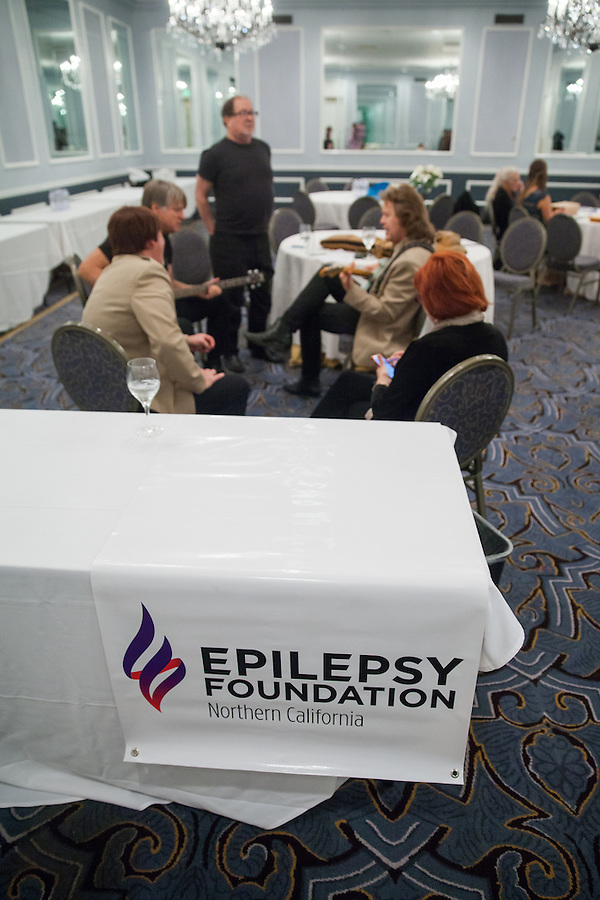 Nigel and Clive & The British Invasion warm up before the 2015 Epilepsy Foundation Gala at the Fairmont San Francisco.