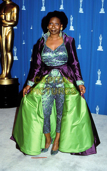 WHOOPI GOLDBERG.Academy Awards.Ref: KIPA.fashion disaster, oscars, green and purple gown.www.capitalpictures.com.sales@capitalpictures.com.© Capital Pictures
