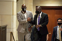 Philonise Floyd, brother of George Floyd, and Ben Crump, civil rights attorney representing George Floydís family, leave a United States House Judiciary Committee hearing on Wednesday, June 10, 2020 where police brutality and racial profiling was discussed.<br /> Credit: Greg Nash / Pool via CNP/AdMedia