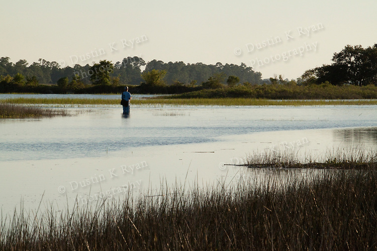 Lowcountry dock flood tide south carolina James island fishing fisherman
