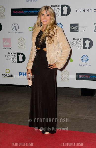 Frankie Essex arriving for the Drapers Fashion Awards at the Grosvenor House Hotel in London. 16/11/2011 Picture by: Simon Burchell / Featureflash.