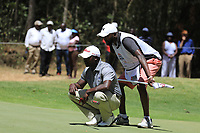 Simon Ngige (KEN) in action during the final round of the Magical Kenya Open, Karen Country Club, Nairobi, Kenya. 17/03/2019<br /> Picture: Golffile | Phil Inglis<br /> <br /> <br /> All photo usage must carry mandatory copyright credit (&copy; Golffile | Phil Inglis)