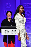 "HOLLYWOOD, CA - MARCH 23: Ryan Murphy and Dominique Jackson at PaleyFest 2019 for FX's ""Pose"" panel at the Dolby Theatre on March 23, 2019 in Hollywood, California. (Photo by Vince Bucci/FX/PictureGroup)"