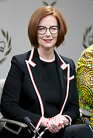 08 March 2019 - London, England - Former Australian Prime Minister Julia Gillard during a panel discussion convened by the Queen's Commonwealth Trust to mark International Women's Day. Photo Credit: ALPR/AdMedia