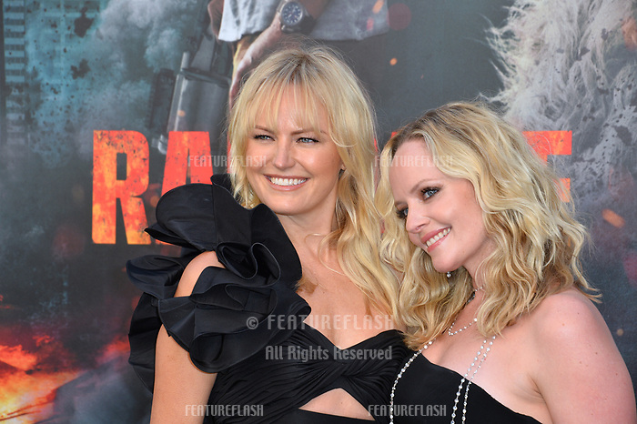 Malin Akerman &amp; Marley Shelton at the premiere for &quot;Rampage&quot; at the Microsoft Theatre, Los Angeles, USA 04 April 2018<br /> Picture: Paul Smith/Featureflash/SilverHub 0208 004 5359 sales@silverhubmedia.com