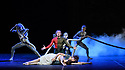 "MuzArts, in association with Classical Events Ltd and PMB Presentations, presents the Bolshoi Ballet's Svetlana Zakharov's triple bill, Amore, at the London Coliseum.  The piece shown is ""Francesca da Rimini"", with music by Pyotr Tchaikovsky, choreography by Yuri Possokhov, set design by Maria Tregubova, costume design by Igor Chapurin, video design by Yury Yarushnikov. The dancers are: Svetlana Zakharova (Francesca), Denis Rodkin (Paolo), Mikhail Lobukhin (Giovanni),Alexei Gainutdinov/ Anton Gainutdinov/ Vladislav Kozlov (Guardians of the Inferno), Olga Barichka/ Ekaterina Besedina/ Olga Marchenkov/ Ekaterina Smurova/ Ana Turazashvili (Court Ladies)."