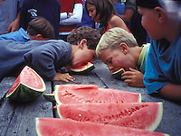 Watermelon Eating Contest at Great Day in Elk, Elk California