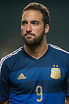 Gonzalo Higuian of Argentina looks on during the HKFA Centennial Celebration Match between Hong Kong vs Argentina at the Hong Kong Stadium on 14th October 2014 in Hong Kong, China. Photo by Aitor Alcalde / Power Sport Images