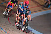 7th February 2019, Melbourne Arena, Melbourne, Australia; Six Day Melbourne Cycling; Leon Rohde of Great Britain rides during the madison chase