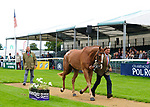 30th August 2017. Andrew Nicholson (NZL) riding Nereo during the First Horse Inspection of the 2017 Burghley Horse Trials, Stamford, United Kingdom. Jonathan Clarke/JPC Images