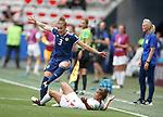 09.06.2019 England v Scotland Women: Nichola Docherty and Nikita Parris