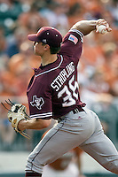 Texas A&M Aggies pitcher Ross Stripling #36 delivers against the Texas Longhorns in NCAA Big XII Conference baseball on May 21, 2011 at Disch Falk Field in Austin, Texas. (Photo by Andrew Woolley / Four Seam Images)