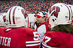 Wisconsin Badgers assistant coach Joe Rudolph talks to the kick off team during an NCAA Big Ten Conference college football game against the Penn State Nittany Lions on November 26, 2011 in Madison, Wisconsin. The Badgers won 45-7. (Photo by David Stluka)