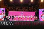 Androni Giocattoli-Sidermec on stage at the Teams Presentation held in Piazza Maggiore Bologna before the start of the 2019 Giro d'Italia, Bologna, Italy. 9th May 2019.<br /> Picture: Fabio Ferrari/LaPresse | Cyclefile<br /> <br /> All photos usage must carry mandatory copyright credit (&copy; Cyclefile | Fabio Ferrari/LaPresse)