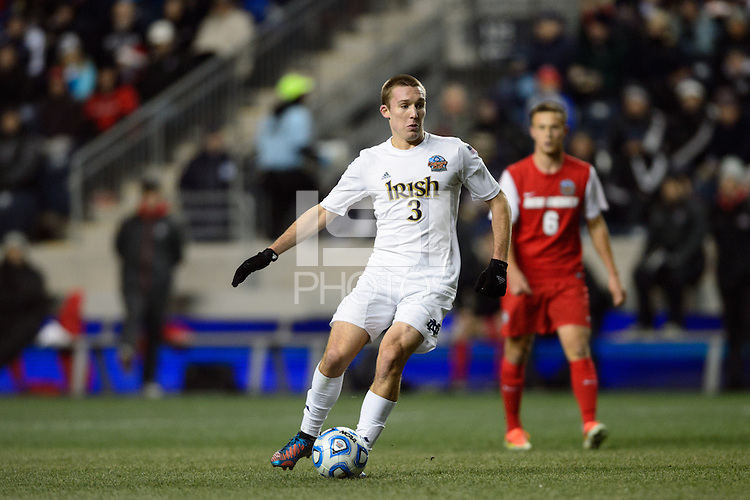 Notre Dame Fighting Irish midfielder Connor Klekota (3). The Notre Dame Fighting Irish defeated the New Mexico Lobos 2-0 during the semifinals of the 2013 NCAA division 1 men's soccer College Cup at PPL Park in Chester, PA, on December 13, 2013.