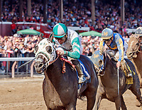 Scenes from Saratoga Race Course, Sep. 2.  Race 7, won by Warrior's Club (no. 3); ridden by Joel Rosario; trained by D. Lukas. (Bruce Dudek/Eclipse Sportswire)