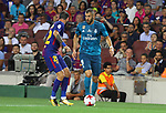 Benzema in action during Supercopa de España game 1 between FC Barcelona against Real Madrid at Camp Nou