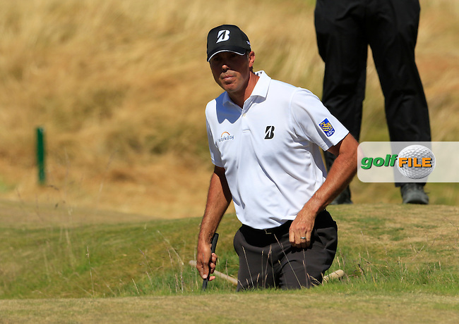 Matt Kuchar (USA) in a bunker at the 6th green during Friday's Round 2 of the 2015 U.S. Open 115th National Championship held at Chambers Bay, Seattle, Washington, USA. 6/20/2015.<br /> Picture: Golffile | Eoin Clarke<br /> <br /> <br /> <br /> <br /> All photo usage must carry mandatory copyright credit (&copy; Golffile | Eoin Clarke)