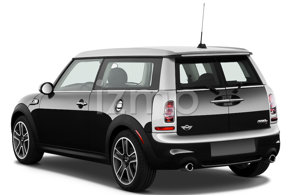 Rear three quarter view of a 2011 Mini Cooper Clubman S