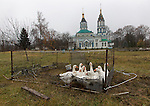 Chernobyl's church in the 30km exclusion zone.