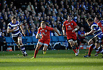 Toby Flood on the attack for Toulouse - European Rugby Champions Cup - Bath Rugby vs Toulouse - Recreation Ground Bath - Season 2014/15 - October 25th 2014 - <br /> Photo Malcolm Couzens/Sportimage