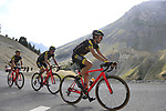 Romain Sicard, Sylvain Chavanel and Thomas Voeckler (FRA) Direct Energie climb Col d'Izoard during Stage 18 of the 104th edition of the Tour de France 2017, running 179.5km from Briancon to the summit of Col d'Izoard, France. 20th July 2017.<br /> Picture: Eoin Clarke | Cyclefile<br /> <br /> All photos usage must carry mandatory copyright credit (&copy; Cyclefile | Eoin Clarke)