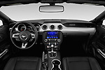 Stock photo of straight dashboard view of 2020 Ford Mustang EcoBoost-Premium 2 Door Convertible Dashboard