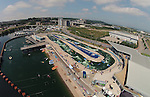 Aerial view of Cardiff International White Water Centre in Cardiff Bay.<br /> 06.07.13<br /> &copy;Steve Pope-SPORTINGWALES