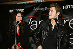 "Vampire Diaries stars Paul Wesley (Wasilewski) ""Max"" GL & Nina Dobrev on January 30, 2010 during the Hot Topic Tour at the Westfield Garden State Plaza, Paramus, New Jersey where they signed autographs and held a Q & A session for a huge number of fans. (Photo by Sue Coflin/Max Photos)"