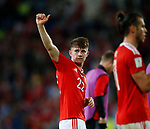 Ben Woodburn of Wales salutes the crowd during the World Cup Qualifying Group D match at the Cardiff City Stadium, Cardiff. Picture date 2nd September 2017. Picture credit should read: Simon Bellis/Sportimage