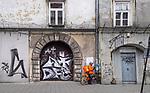 2020-02-18 Kraków. 2020-02-18 Kraków. Graffiti na ul. Józefa na Krakowskim Kazimierzu.