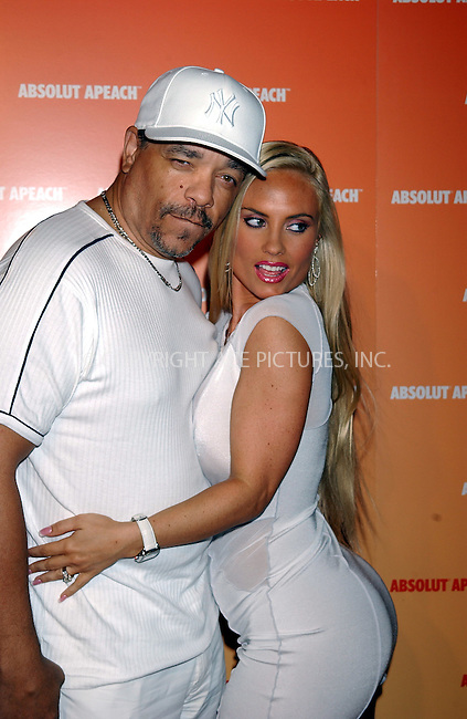 WWW.ACEPIXS.COM . . . . . ....NEW YORK, NEW YORK, MAY 16TH 2005....Ice T and Coco at the Absolut Peach launch at Koi in the Bryant Park Hotel....Please byline: KRISTIN CALLAHAN - ACE PICTURES.. . . . . . ..Ace Pictures, Inc:  ..Craig Ashby (212) 243-8787..e-mail: picturedesk@acepixs.com..web: http://www.acepixs.com