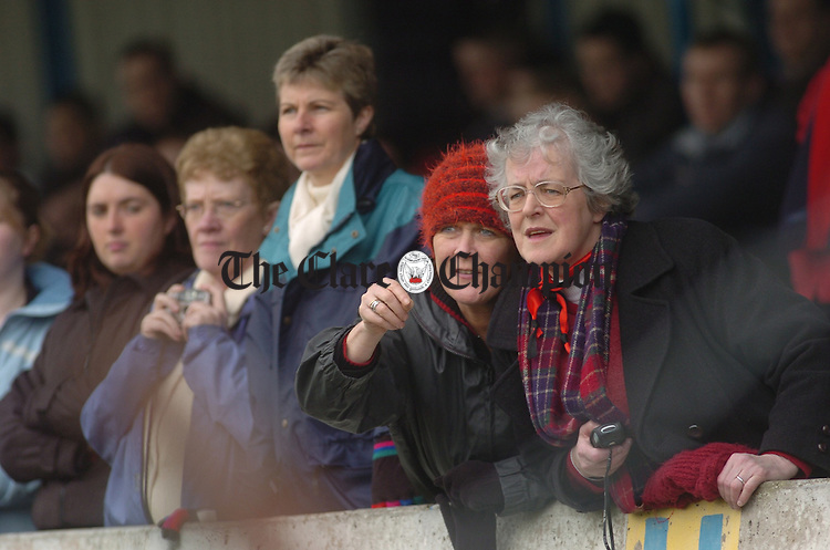 The fans from Kilrush keep a aclose eye on proceedings at the Colleges county final at Cusack Park. Photograph by John Kelly.