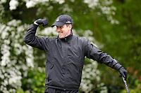 Anton Du Beke strikes a pose during the Hero Pro-am at the Betfred British Masters, Hillside Golf Club, Lancashire, England. 08/05/2019.<br /> Picture David Kissman / Golffile.ie<br /> <br /> All photo usage must carry mandatory copyright credit (© Golffile | David Kissman)