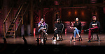 """Holli Campbell , Sabrina imamura, Lauren Boyd and Bryan Terrell Clark attends the cast Q & A during The Rockefeller Foundation and The Gilder Lehrman Institute of American History sponsored High School student #EduHam matinee performance of """"Hamilton"""" at the Richard Rodgers Theatre on October 24, 2018 in New York City."""