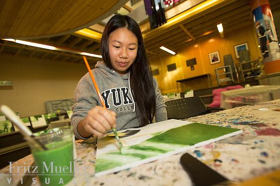 Yukon College Diversity Wall art project, Yukon College, Whitehorse campus