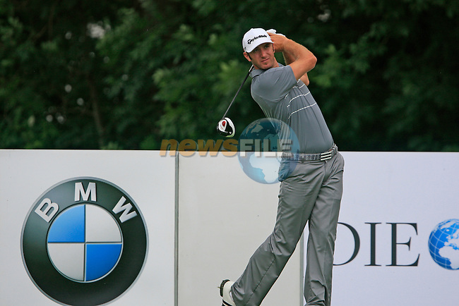 Dustin Johnson (USA) in action on the 9th tee during the Pro-Am Day of the BMW International Open at Golf Club Munchen Eichenried, Germany, 22nd June 2011 (Photo Eoin Clarke/www.golffile.ie)