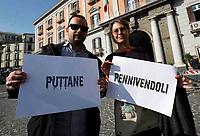 Flashmob dei giornalisti della Campania per protestare contro il tentativo di imbavagliamento della stampa e le offesa  da parti di alcuni esponenti del Governo