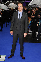 "Michael Fassbender arriving for the ""X-Men: Days of Future Past"" UK premiere at the Odeon Leicester Square, London. 12/05/2014 Picture by: Steve Vas / Featureflash"