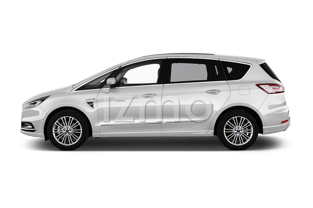 Car driver side profile view of a 2018 Ford S-Max Vignale Base 5 Door Mini Van