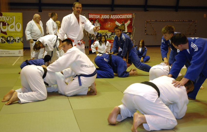 Photo: Richard Lane..UK School Games Press Conference, Coventry. 19/06/2007. .Neil Adams coaches judo competitors.