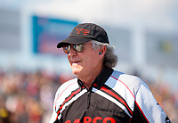 Sep 29, 2019; Madison, IL, USA; Richard Hogan crew chief for NHRA top fuel driver Steve Torrence during the Midwest Nationals at World Wide Technology Raceway. Mandatory Credit: Mark J. Rebilas-USA TODAY Sports