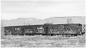 Three stock cars at Gunnison.<br /> D&amp;RGW  Gunnison, CO  Taken by Richardson, Robert W. - 10/3/1952