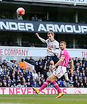 Tottenham's Christian Eriksen fires a shot past Bournemouth's Simon Francis during the Premier League match at White Hart Lane Stadium.  Photo credit should read: David Klein/Sportimage